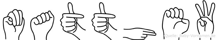 Matthew in Fingersprache für Gehörlose
