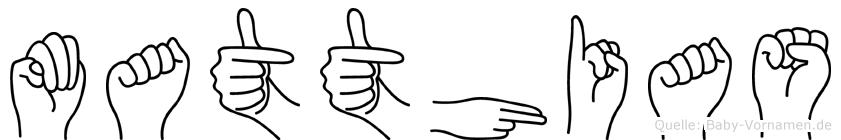 Matthias in Fingersprache für Gehörlose