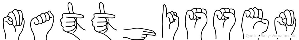 Matthissen in Fingersprache für Gehörlose