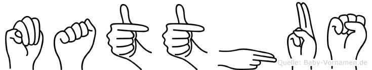 Matthäus im Fingeralphabet der Deutschen Gebärdensprache