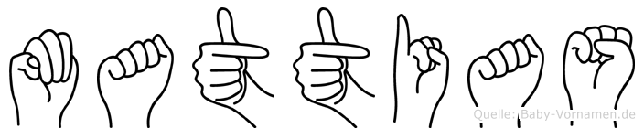 Mattias im Fingeralphabet der Deutschen Gebärdensprache