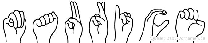 Maurice in Fingersprache für Gehörlose