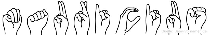 Mauricius in Fingersprache für Gehörlose