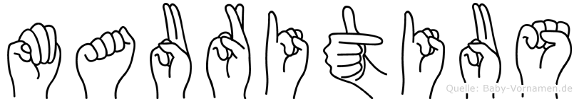 Mauritius im Fingeralphabet der Deutschen Gebärdensprache
