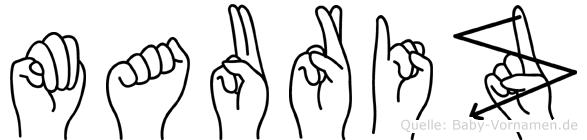 Mauriz in Fingersprache für Gehörlose