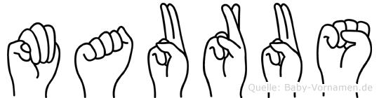 Maurus in Fingersprache für Gehörlose
