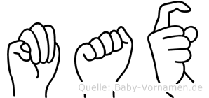 Max in Fingersprache für Gehörlose