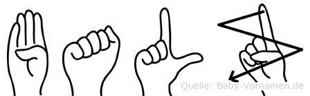 Balz in Fingersprache für Gehörlose