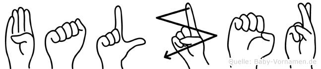 Balzer im Fingeralphabet der Deutschen Gebärdensprache