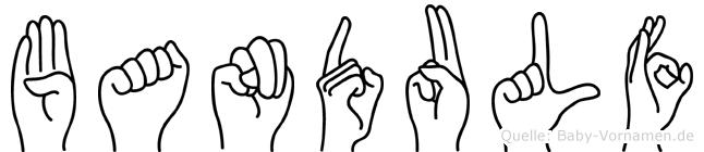Bandulf im Fingeralphabet der Deutschen Gebärdensprache