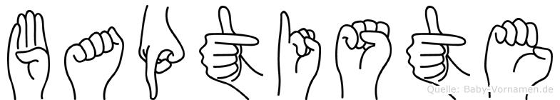 Baptiste im Fingeralphabet der Deutschen Gebärdensprache
