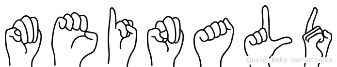 Meinald in Fingersprache für Gehörlose
