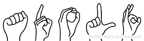 Adolf in Fingersprache für Gehörlose