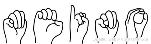 Meino in Fingersprache für Gehörlose