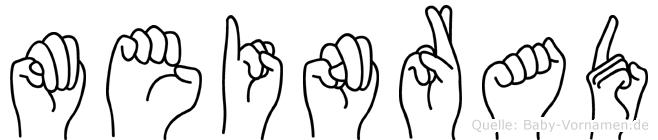Meinrad im Fingeralphabet der Deutschen Gebärdensprache
