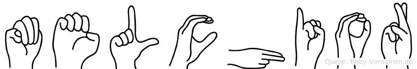 Melchior im Fingeralphabet der Deutschen Gebärdensprache