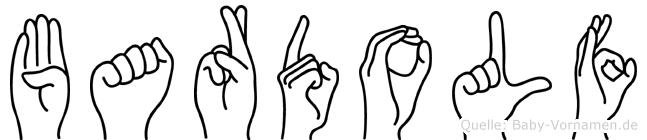 Bardolf im Fingeralphabet der Deutschen Gebärdensprache