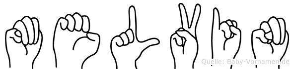 Melvin in Fingersprache für Gehörlose