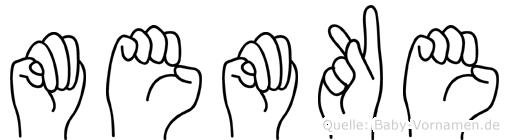 Memke in Fingersprache für Gehörlose