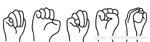 Menso in Fingersprache für Gehörlose