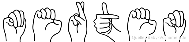 Merten in Fingersprache für Gehörlose