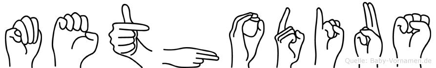 Methodius in Fingersprache für Gehörlose