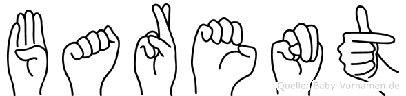 Barent im Fingeralphabet der Deutschen Gebärdensprache