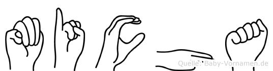 Micha in Fingersprache für Gehörlose