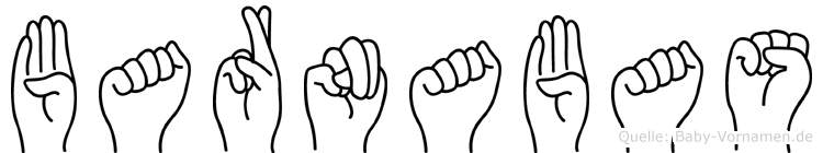 Barnabas im Fingeralphabet der Deutschen Gebärdensprache