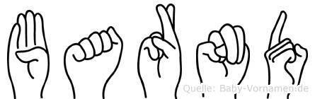 Barnd im Fingeralphabet der Deutschen Gebärdensprache