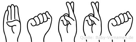 Barra im Fingeralphabet der Deutschen Gebärdensprache