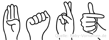 Bart im Fingeralphabet der Deutschen Gebärdensprache