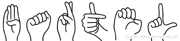 Bartel in Fingersprache für Gehörlose