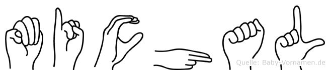 Michal im Fingeralphabet der Deutschen Gebärdensprache