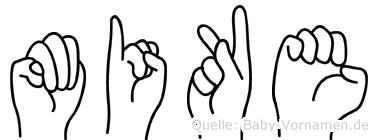 Mike in Fingersprache für Gehörlose