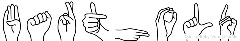 Barthold im Fingeralphabet der Deutschen Gebärdensprache