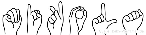 Mikola im Fingeralphabet der Deutschen Gebärdensprache