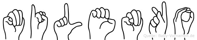 Milenko im Fingeralphabet der Deutschen Gebärdensprache