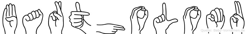 Bartholomäu im Fingeralphabet der Deutschen Gebärdensprache