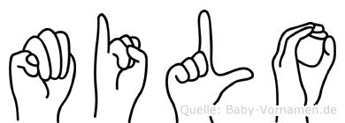 Milo in Fingersprache für Gehörlose