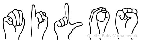Milos in Fingersprache für Gehörlose