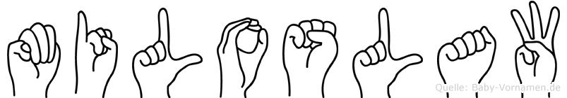 Miloslaw im Fingeralphabet der Deutschen Gebärdensprache