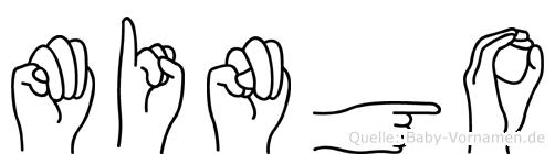 Mingo im Fingeralphabet der Deutschen Gebärdensprache