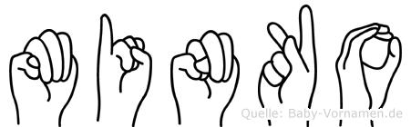 Minko in Fingersprache für Gehörlose