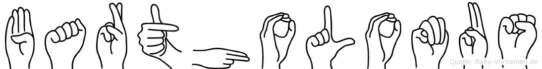 Bartholomäus in Fingersprache für Gehörlose