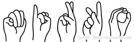 Mirko in Fingersprache für Gehörlose