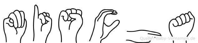 Mischa im Fingeralphabet der Deutschen Gebärdensprache