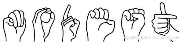 Modest in Fingersprache für Gehörlose