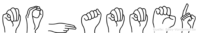 Mohammed in Fingersprache für Gehörlose