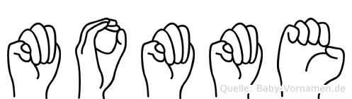 Momme in Fingersprache für Gehörlose